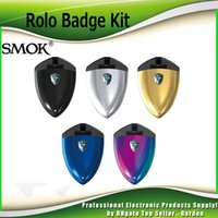 Wholesale Wholesale Metal Badge - Original Smok Rolo Badge Starter Kits 16w All-in-one Style Vape Kit with 2ml Cartridge Pod 250mAh Battery SmokTech 100% Authentic
