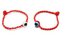 rote böse augenschmuck großhandel-Neue 50 teile / los GLÜCK EYE Rote Schnur Armband EVIL Auge Schmuck Kabala rot Gute Glück Armband schutz für frauen männer 20 cm