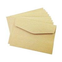 Wholesale Envelope Window - Wholesale- 100PCS lot simple Kraft paper envelope 160*110mm gift wedding envelopes Window card envelope