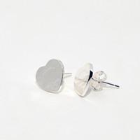 pendientes de plata de ley 925 con corazones al por mayor-100% 925 Diseño de Moda de Lujo de Las Mujeres de Plata Esterlina Joyas Pendientes Corazón de Amor para Mujeres Niñas Regalo de Boda Stud Pendiente