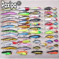 Wholesale sets saltwater lures resale online - 56pcs Mixed Fishing Lures Minnow Crankbaits Bass Baits Wobblers Set Lifelike Fake Fishing bait Tackle Drop shipping Y18100806