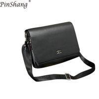 новые прибывшие сумочки оптовых-PinShang Men Handbag New Arrived  Kangaroo Men's Messenger Bag Vintage Leather Shoulder Bag Handsome Crossbody Bag ZK50