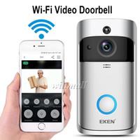 zeit kamera app großhandel-EKEN Smart Video Türklingel V5 720 P HD Wifi Überwachungskamera Echtzeit Nachtsicht, PIR-Bewegungserkennung für IOS Android Phone APP-Steuerung