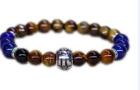 Wholesale zodiac jewelry scorpio for sale - Group buy 12pcs Scorpio zodiac jewelry Tiger eye bracelet Men bracelet Father day gift for men