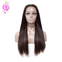 Wholesale long straight synthetic wigs for sale - Doheroine inch Long Straight Synthetic Lace Front Wigs For Women Natural Looking Hair Wigs Humanized Wigs Design With Adjustable Strap