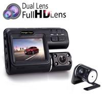 nachtsicht führte lichter großhandel-I1000S Doppelobjektiv-Auto-DVR-Kamera volles HD 1080P + Rückfahrkamera 2,0