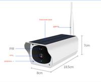 wifi ağ güvenlik kamerası toptan satış-Düşük güç pil güneş enerjisi IP CCTV Ağ kamera su geçirmez wifi güvenlik IP Kamera