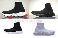 Wholesale breathable slip shoes for sale - DHL Shipping With box Mens and Womens Casual Shoes Zoom Slip on Speed Trainer Low Mercurial XI Black High Fashion help Socks shoes Sneakers