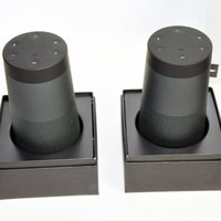 Wholesale Sound Revolve Triple Black Silver Portable Speaker with retail package