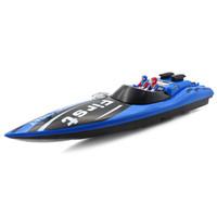 bateaux électriques pour les enfants achat en gros de-Bateau RC jouet pour enfants 35Hz sans fil 100m télécommande bateau contrôle 15km / H bateau de course RC bateaux enfants eau électrique jouets