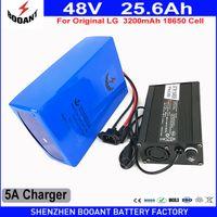 Wholesale used motors - BOOANT EU US Duty Free 48V 25.6AH 1800W Use original LG E-Bike Li-ion Battery for Bafang Motor With 50A BMS 5A Charger