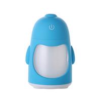 humidificateur de pingouin achat en gros de-Minuscule Led Light Portable Penguin Humidificateur Mini Night Light USB Humidificateur Purificateur D'air College Dortoir Décorations pour Usage Intérieur