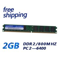 Wholesale Desktop Rams - Low density desktop pc ddr2 2GB DDR2 PC2-800MHZ CL6 1.8V ram memoria module full compatible with ALL motherboard