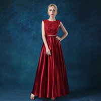 Wholesale purple stock special occasion dresses online - 2018 Cheap Prom Dresses IN STOCK Sequins Top A Line Floor Length Burgundy Pink Champagne Black Formal Evening Gowns Custom