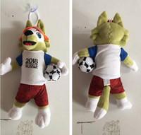 neue weltpuppen großhandel-New Russia 2018 World Cup Thema Fußball Maskottchen Puppe Plüschtier Souvenirs Aktivitäten Geschenke