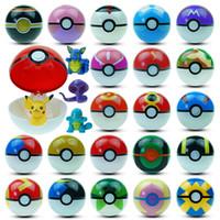 jouets élves achat en gros de-Nouvelle Arrivée 21 Types Pikachu balles 7 cm Anime Ball avec des Figurines ABS Super Maître Elf Ball Jouets Différents pokBall Mini Modèle