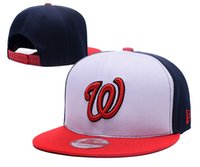 Wholesale Free Online Shops - Newest Washington Nationals Fitted hat Online Shopping Street Fitted Fashion Hat W Letters Snapback Cap Men Women Basketball Hip Pop