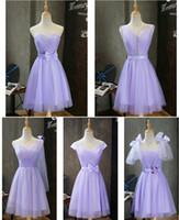 hochzeitskleider für brautjungfern großhandel-Neue Ankunft Land Stil Kurze Brautjungfernkleider 2018 Günstige Juwel Backless Knielangen Hochzeiten Gast Kleid