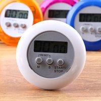 minutero al por mayor-Temporizador de cocina digital Novedad Kitchen Helper Mini LCD Temporizador digital magnético Cocina Cuenta atrás Clip Timer Alarm Round Shape