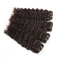 peruvian remy saç paketi toptan satış-Perulu Derin Dalga 1 Bundle% 100% İnsan Saç Dokuma Paketler 10-30 Inç Olmayan Remy Saç Uzantıları