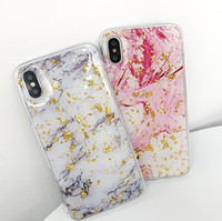 Wholesale Clear Marbles - For iphone X 8 plus Case New Marble Clear Rise Gold Cover For iphone 7 6 6s 8P 7P 6P 7plus Fashion Transparent Coolest Cute Luxury Case