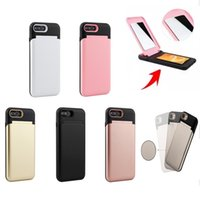 Wholesale iphone backs for sale for sale - Hot Sale in Mirror Case Waterflow Card Slot Cases Delux Women Girly Back Cover For Iphone X Iphone