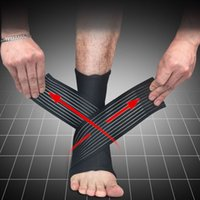 Wholesale Ankle Protection Football - 1 Pair Sport breathable Football Basketball Ankle Brace Protector Adjustable Ankle Support Pad Protection Elastic Brace Guard Support
