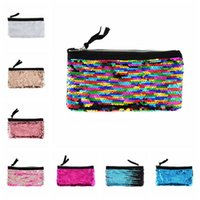 0ee9ee674b Wholesale sequin bag wholesalers online - 16 Colors Sequins Handbag Purse  Cosmetic Bag Colorful Fashion Mermaid Find Similar