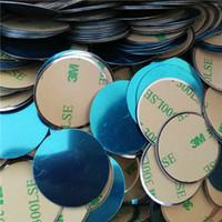 adesivos de ventilação de ar venda por atacado-30mmX0.5mm Substituição Universal Almofada De Metal 3 M Adesivo para Magnetic Car Mount Titular Suporte Do Carro Ventilação Magnética Acessórios