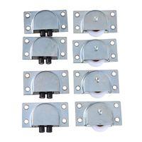 WHISM 8 Pcs Lot Stainless Steel Sliding Door Wheel Cabinet Nylon Wheels Hanging Wheel Parts Door Rollers Hardware