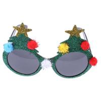 yılbaşı ağacı kostümleri toptan satış-Noel Yenilik Güneş Gözlüğü Noel Ağacı Hawaiian Plaj Ananas Güneş Noel Cadılar Bayramı Kostüm Partisi Gözlük Süslemeleri