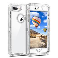 fundas de iphone claro al por mayor-Para Iphone XR Case 3in1 Defender Case Soft TPU Bumper Clear Hybrid Contraportada para Iphone 11 Pro Max