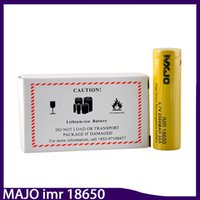 Wholesale Box Clone - Majo IMR 18650 Battery CLONE 35A High Drain 2500mah Flat Top Rechargeable Batteries Cell with Yellow Color Fit 510 Thread Box Mod 0269010