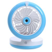 Wholesale small mini power bank online - Summer USB Spray Fan Mini Humidifier Small Cooling Fan Touch Switch Rechargeable Water Mist Ventilador Mobile Power Bank Gadgets
