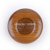 metal tabaklar toptan satış-Toptan-Ev gereçleri sofra ahşap tabak 12 * 1.6 cm daire küçük ahşap plaka 5 adet 52237