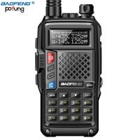 walkie uhf achat en gros de-Nouveau BAOFENG BF-UVB3 PLUS 5W UHF / VHF double bande haute puissance 10KM longue portée batterie talkie-walkie mode de charge multiple