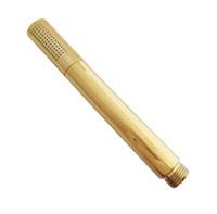 Wholesale golden bathroom accessories - Bathroom Accessories Golden Brass Round Shaped Handheld Spray Shower Heads Cgf042