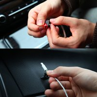 Wholesale wire line holder online - 8Pcs Set Self adhesive Auto Charger Line Clasp Clamp Cable Organizer for Headphone USB Cable Tie Fixer Car Wire Holder