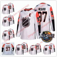 Wholesale ice hockey games - Custom Pacific Division 2018 Ice Hockey All-Star Game White Jerseys Stitched Any Number Name McDavid Boeser Neal Fleury Burns Gaudreau S-60