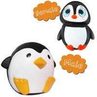 Wholesale toy cute online - 12cm Squishy kawaii toys Cute Penguins Squishy Slow Rising Cream Scented Decompression Toys for children kids Gift