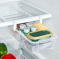 refrigerador de almacenamiento al por mayor-Refrigerador Organizador Caja frigorífico mate Cocina Almacenamiento Saque Cajón Tire hacia fuera Bin Inicio Organizador Espacio Ahorro Huevo Almacenamiento FFA1038