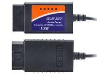 ingrosso interfaccia diagnostica usb nissan-ELM327 USB Plastic OBDII Diagnostic Scanner ELM 327 Cavo Interfaccia USB Versione 1.5 Versione 2.1
