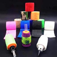 elastik malzemeler toptan satış-25mm Kendinden Yapışkanlı Elastik Bandaj Spor Koruması Için Toptan Ucuz Dokunmamış Kumaş 1 Inç Dövme Tedarik Kavrama Elastik Bantlar 24 Rolls