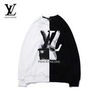 camisolas vintage de grandes dimensões venda por atacado-Mens Inverno Camisola Hoddies Knaye West Vintage Hip-Hop Estilo de Grandes Dimensões Costura de Alta Qualidade Camisola Dos Homens Pullovers