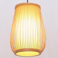 rustikale lampen großhandel-South Asian Bamboo Vase Esszimmer Pendelleuchte Japanese Corridor Restaurant Pendelleuchten Country Rustic Hallway Lampe