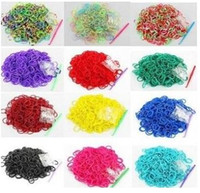 Wholesale rubber band s clips resale online - 600 bands S Clips pack Elastic Rubber Family Candy Colorful Bracelet Bands Multy DIY Silicone Refills hotsale jewelry