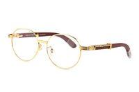 beyaz yuvarlak kutular toptan satış-Moda Tam Çerçeveleri Yuvarlak Güneş Gözlüğü Marka Tasarımcı güneş gözlükleri erkekler kadınlar için manda boynuzu gözlük Optik Gözlük ile Beyaz ahşap kutu