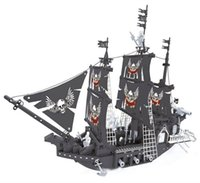Wholesale building blocks pirate ship - Pirate Series Particle Bricks Toys The Black Pearl Ship Model Puzzle Compatible Assembled Early Educational Building Blocks Gift 76 1hy YY