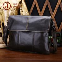 таблетка оптовых-Оптовая мужская натуральная кожаная сумка, повседневная мода, наклонная, перекинутая сумка ультра тонкий планшетный компьютер корова кожаная сумка