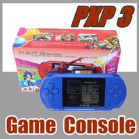 Wholesale Gaming Consoles - 10X Factory Wholesale PXP3 Games Console Handheld 16 Bit PVP Retro TV-Out Video 2 Game Cartridges PXP3 Slim Station Gaming Console A-YXJ